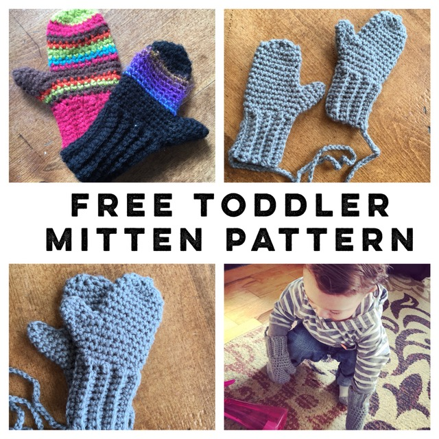 Crocheted Toddler Mittens Free Pattern