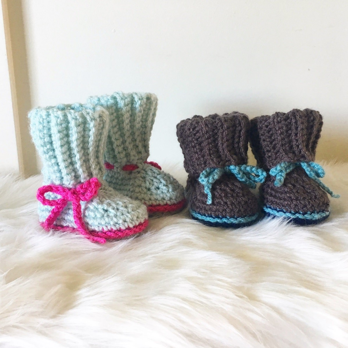 crochet pattern baby booties shoes cute