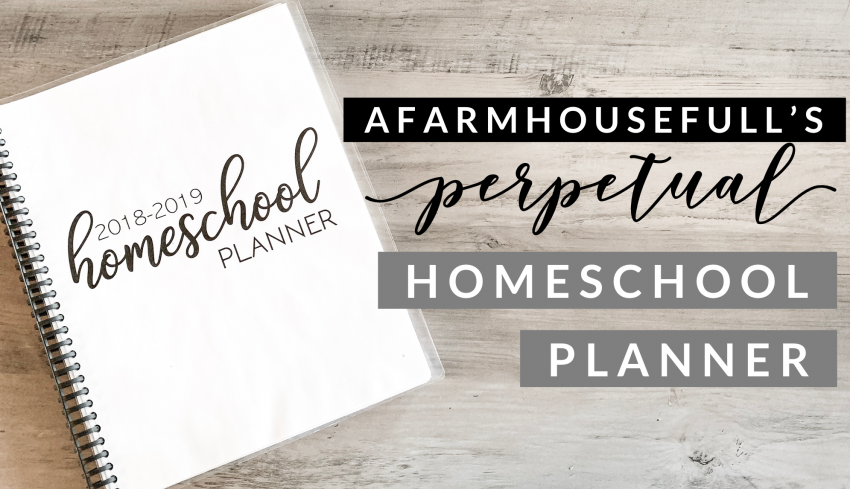 printable custom planner homeschool curriculum